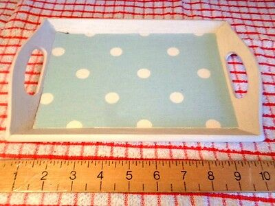 WHITE + CATH KIDSTON OILCLOTH BLUE small tray make up bathroom kitchen one cup