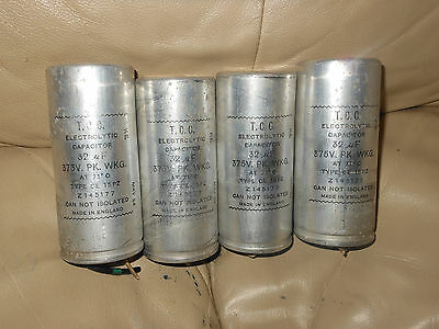 1x TCC ELECTROLYTIC Z145177 CAPACITOR FROM MILITARY VINTAGE RADIO *FREE POST