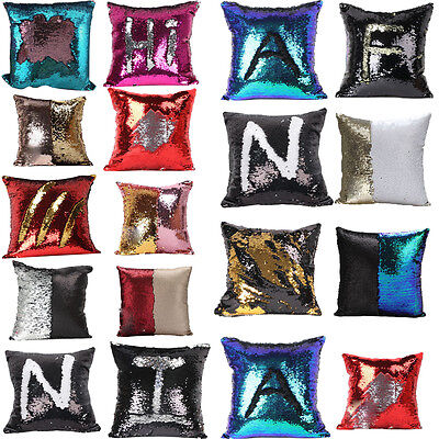 2017 Home Reversible Sequin Mermaid Glitter Swipe Sofa Cushion Cover Pillow Case