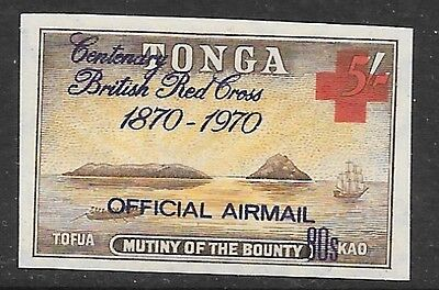 TONGA SGO57 1970 90s ON 5/- BRITISH RED CROSS   MNH