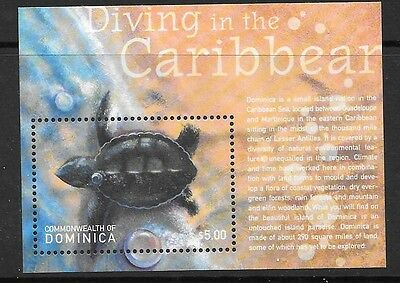 Dominica Sgms3034 2001 Diving In The Caribbean    Mnh