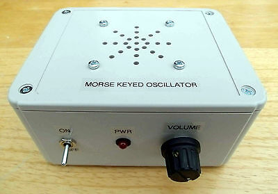 Morse - Keyed Oscillator - ready built. Made in Dorset UK.
