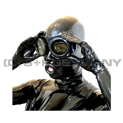 Gas Mask Style Glasses F. Latex Hood Dress Cosplay Fetish Cosplay Gotic Gothic