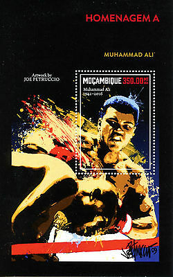 Mozambique 2016 MNH Muhammad Ali Tribute 1v S/S Boxing Sports Stamps