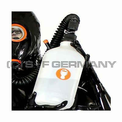 █ Deluxe Gas Mask Double Mode Inhaler Set F. Latex Rubber Fetish Cosplay Hood █