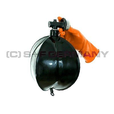 █ Deluxe Gas Mask Special Rebreathing Bag Set Xxl 5 Litre F. Latex Fetish Hood █