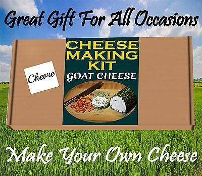 Cheese Making KIT GOAT CHEESE CHEVRE  Great Gift Present Birthday Make Your Own