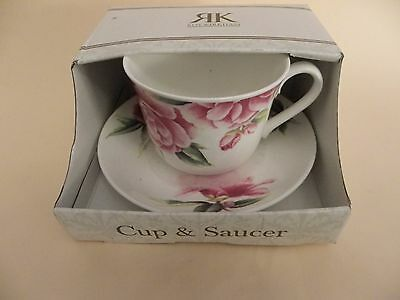 Roy Kirkham Fine Bone China Large Breakfast Cup & Saucer.