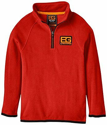 Bear Grylls, Giacca in micropile Unisex bambino Core, Rosso (rot - Rot - Bear