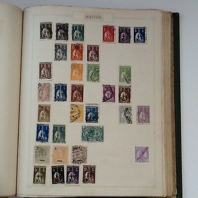 A collection of old stamps from Portugal