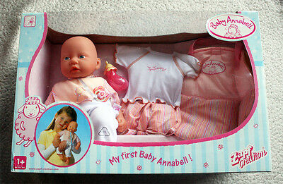 Baby Annabell, My First Series. 2004 Zapf Creation, Retired! Brand New In Box Os