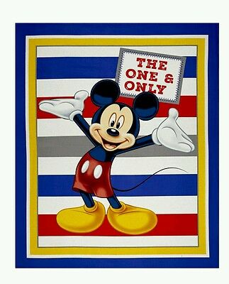 Disney The One & Only Mickey Mouse Quilt Panel * New * In Stock * Free Post *