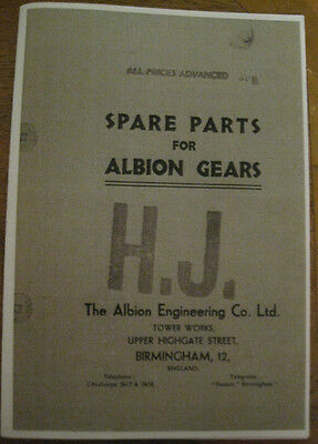 Vintage  Albion Gearbox Illustrated Parts Book 1929