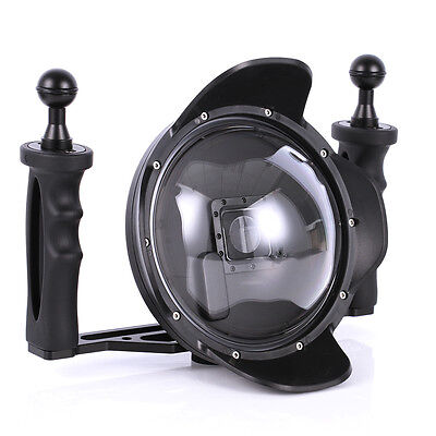 6'' 3.0 Diving Underwater Handheld Dome Port Camera Lens Tray for Gopro Hero 3+4