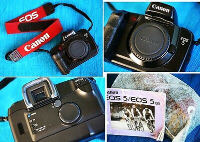 Great CANON EOS 5 Body, Autofocus 35mm SLR. Great Condition & Instructions!