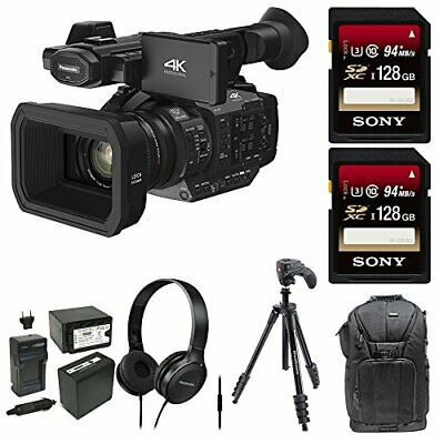 Panasonic HC-X1 4K Ultra High Definition Professional Camcorder, (2) 128GB SDXC,