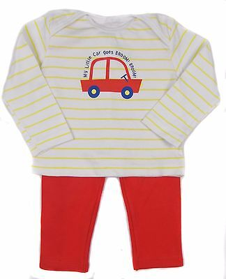 Baby Sleepwear Pyjama Night Wear Sets PJS Boys Cars 6-9 9-12 Month Cotton