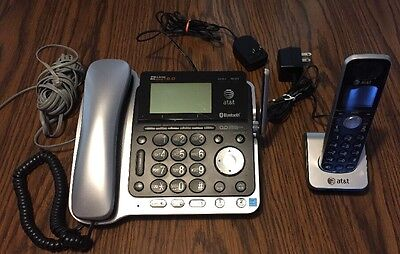 At&t TL86109  6.0 Cordless and Corded Phone System with Bluetooth FREE SHIPPING