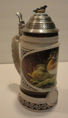 """Ducks Unlimited """"Secluded Sanctuary"""" By Terry Doughty No. 5285 Stein"""