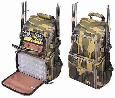 Spro Camouflage Back Pack Bag Rucksack Raubfischtasche incl 4 Boxen Backpack NEW