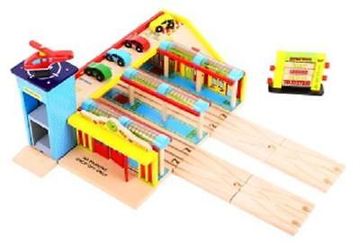 Bigjigs grand central station wooden railway fits Brio BJT201