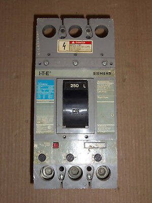ITE Siemens FXD-6 FXD63A250 3 Pole 600V 250 Amp Circuit Breaker FXD-A-ETI FLAWED