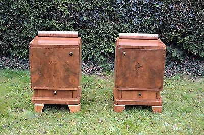 Pair of French Art Deco Nightstand/ Bedside Cabinet  FREE SHIPPING