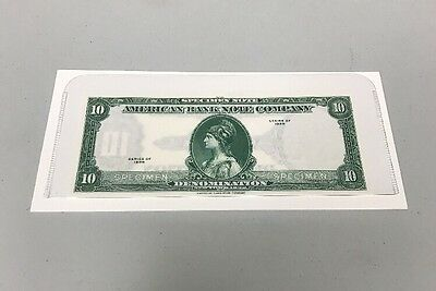 American Bank Note Company Specimen Note Series Of 1929 $10