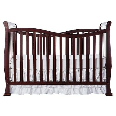 Convertible Crib 7 in 1 Baby Nursery Bed New Toddler Furniture Cherry