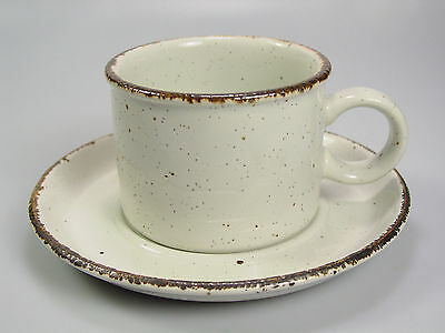 Stonehenge Midwinter WHITE Cup/ Saucer Stoneware by Wedgewood