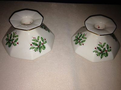 Lenox Holiday Candlestick Holders (1 Pair)