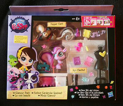 Littlest Pet Shop: Glamour Pack (Pepper Clark 3694 & Jojo Chestnut 3695). New!