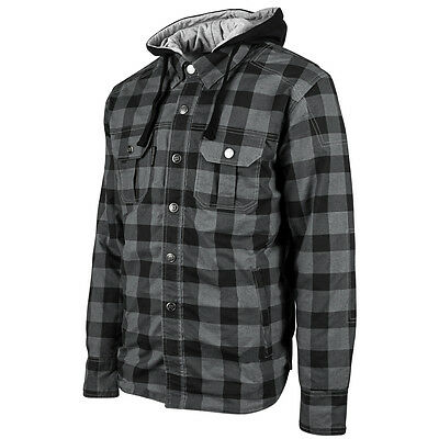 Speed and Strength Men's Standard Supply Flannel Shirt Motorcycle Jacket