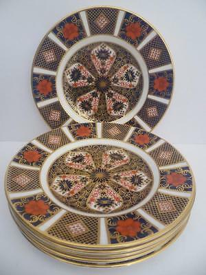SET OF 6 SIX  ROYAL CROWN DERBY IMARI 1128  6.25.ins TEA SIDE PLATES 1ST QUALITY