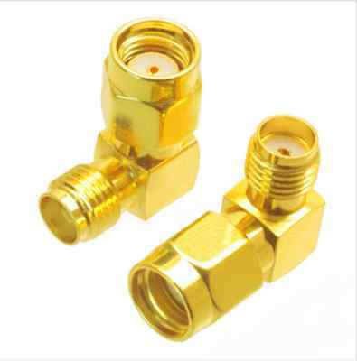 SMA Female to RP-SMA Male Right Angle Adapter Connector