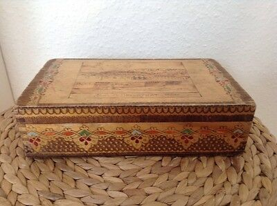 Vintage wooden Pen/Pencil Box, Schreibschatulle, Rare!