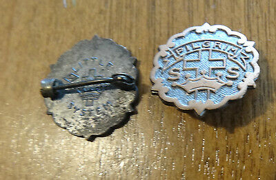 Vintage Collectible PILGRIM Cross & Crown Sunday School Pin Little System