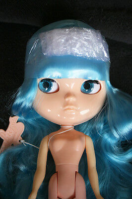 Nude ICY Doll (BLYTHE´s Twin. MUÑECA), BLUE LARGE HAIR. Perfect for CUSTOM, NEW!