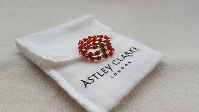 Astley Clarke Ring 14ct Yellow Gold Sterling Vermeil Silver Beaded Ring