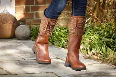 Dublin Thames Boots Red Brown Ladies 7