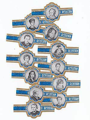 12 cigar bands Principal Famous Women With Principal blue iss in 1972