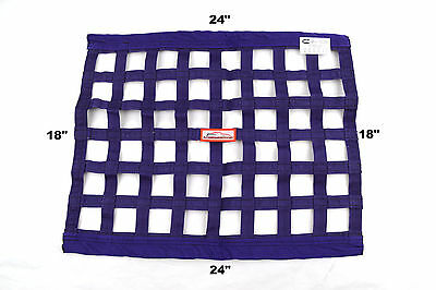 "Racerdirect.net  Sfi 27.1 Race Window Net Rectangle 24"" X 18"" Purple"