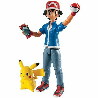 TOMY Pokemon Ash and Pikachu Poseable Action Figures