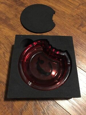 Cookies Sf Heavy Glass Ashtray Red !!! New !!!