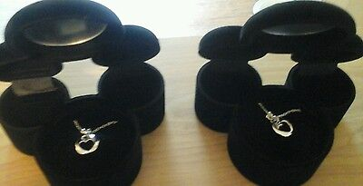 Disney Pair of Mickey Mouse necklaces in Mickey Mouse Shaped Case