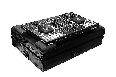 Odyssey FZRODJ808BL All Black Low Profile Flight Case For Roland DJ-808