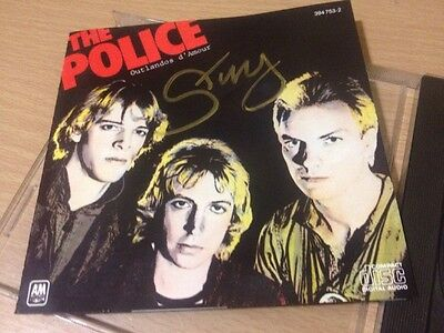 Sting Signed autograph The Police Outlandos D'Amour Cd