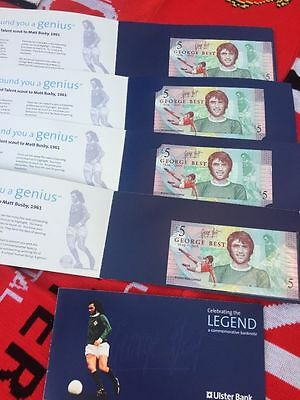 20 Off Brand New George Best £5 Five Pound Note and Six Wallets