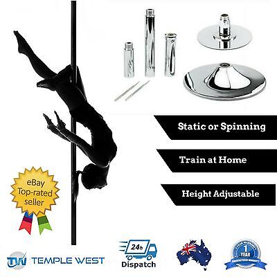 Dance Pole Portable Stripper Exercise Fitness Dancing Static Spinning Full Kit