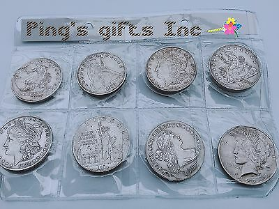 Mix  LOT of  8  OLD  U.S. Type  copy Coin  Collection  Liberty 1797-1922